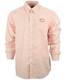 Cutter & Buck Men's Chicago Bears Tattersall Dress Shirt