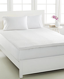 CLOSEOUT! Dream Science 2'' Memory Foam California King Mattress Topper, VentTech Ventilated Foam, by Martha Stewart Collection, Created for Macy's