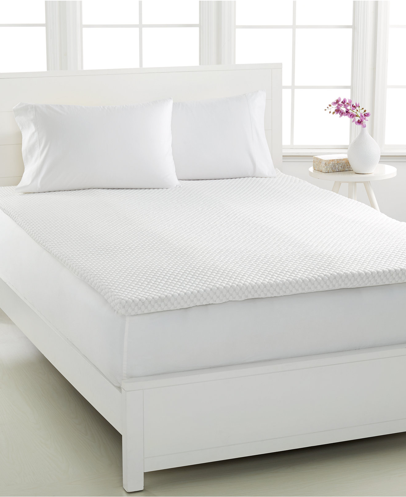 Dream Science 2 Memory Foam Mattress Toppers Venttech Ventilated By Martha Collection Created For Macy S Pads Bed