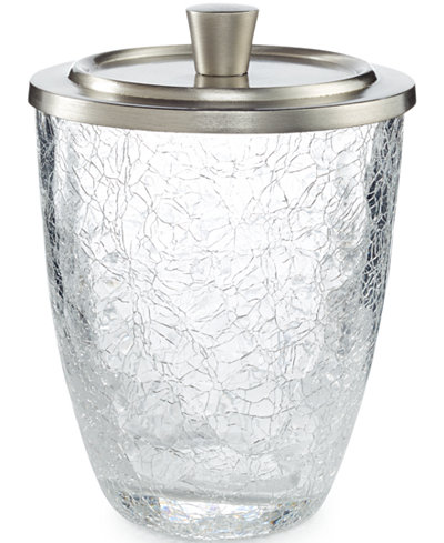 Paradigm bath accessories heirloom crackle canister for Crackle bathroom accessories