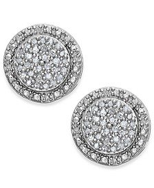 Diamond Pavé Stud Earrings in Sterling Silver (1/5 ct. t.w.)