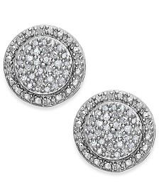 Diamond Pavé Stud Earrings in Sterling Silver (1/5 ct. t.w.)