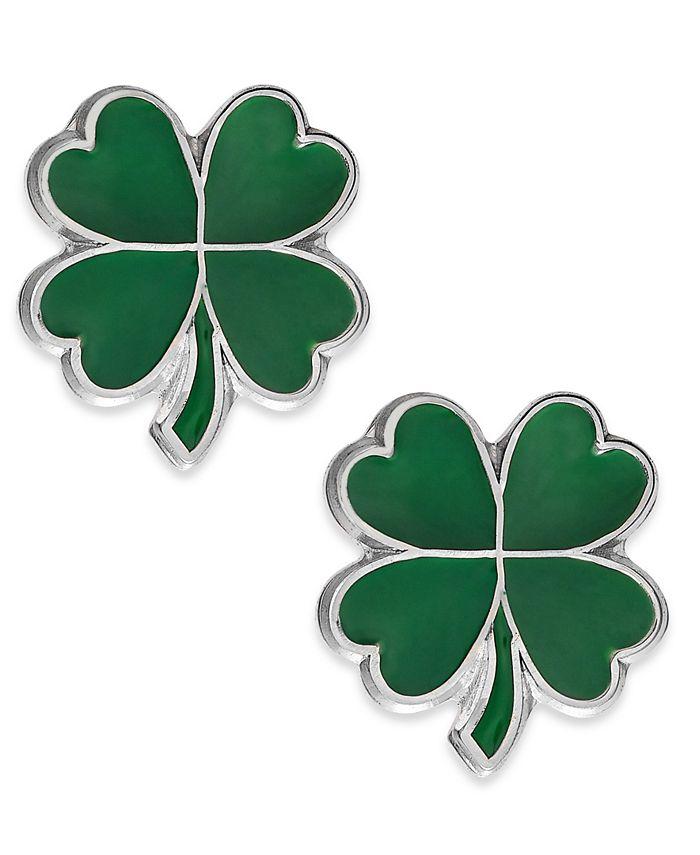 Macy's - Children's Four-Leaf Clover Stud Earrings in Sterling Silver