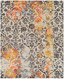 "Neo Grey Damask 7'10"" x 10'7"" Area Rug"