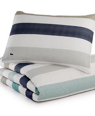lacoste home bailleul full/queen comforter set - bedding