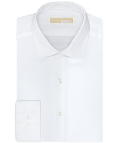 Michael michael kors men 39 s slim fit non iron twill solid for No iron slim fit dress shirts