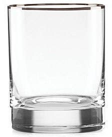 Lenox Timeless Platinum Double Old Fashioned Glass