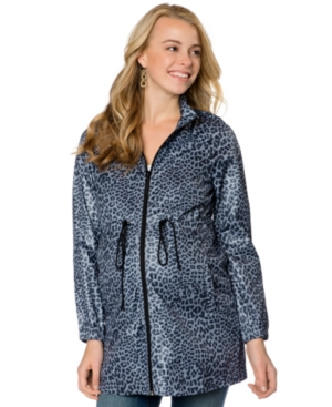 Motherhood Maternity Hooded Animal-Print Adjustable Jacket plus size,  plus size fashion plus size appare