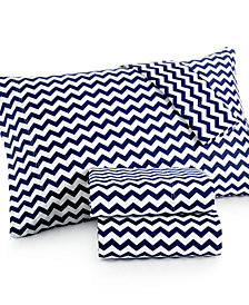 Chevron California King 4-pc Sheet Set, 300 Thread Count 100% Cotton