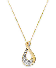 Diamond Infinity Pendant Necklace in 10k Gold (1/5 ct. t.w.)