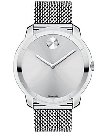 Unisex Swiss Bold Stainless Steel Mesh Bracelet Watch 44mm 3600260
