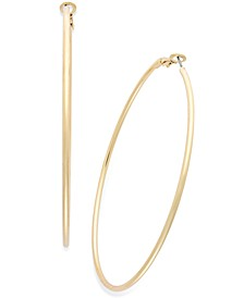 "Large 2"" Thin Hoop Earrings"