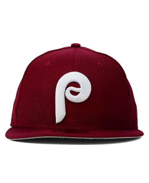New Era Philadelphia Phillies MLB Cooperstown 59FIFTY Cap - Sports ... 8c02df5444d