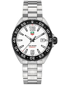Men's Swiss Formula 1 Stainless Steel Bracelet Watch 41mm
