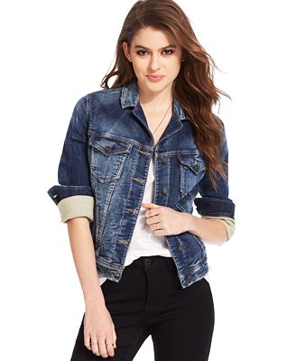 Silver Jeans Joga Denim Jacket - Jackets - Women - Macy's
