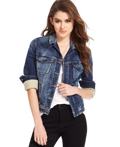 Silver Jeans Joga Denim Jacket - Jackets - Women - Macy's