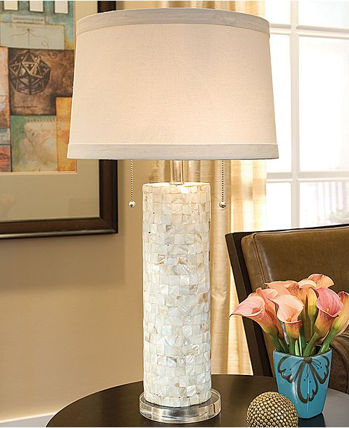 Regina Andrew Design Mother Of Pearl Column Table Lamp