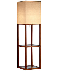 Adesso Crowley Shelf Floor Lamp