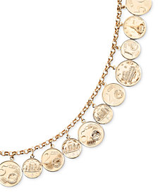 Euro Coin Charm Bracelet in 14k Gold Vermeil