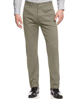 Calvin Klein Men's Calvary Twill Pants - Pants - Men - Macy's