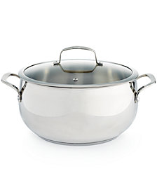 Belgique Stainless Steel 7.5-Qt. Dutch Oven, Created for Macy's