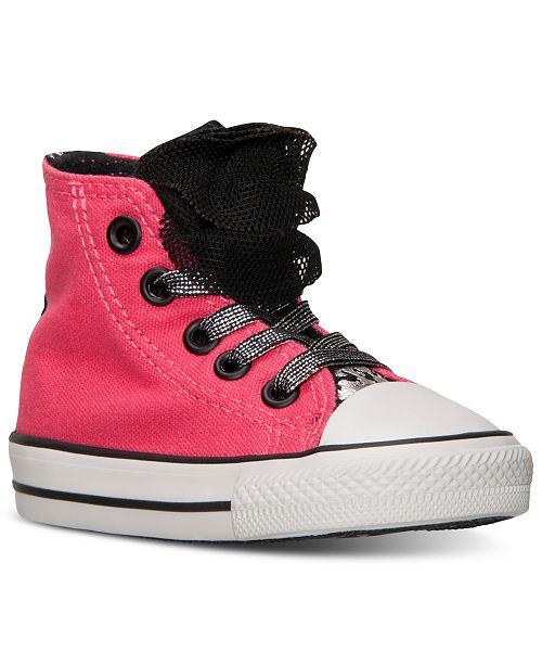 1a30b18c2a3d0f ... Converse Toddler Girls  Chuck Taylor All Star Party Hi Casual Sneakers  from Finish ...