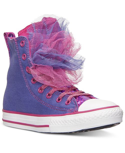 5e40dc93c40efc ... Converse Little Girls  Chuck Taylor All Star Party Hi Casual Sneakers  from Finish ...