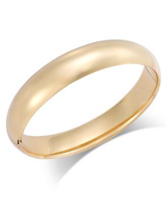 Polished Hinge Bangle Bracelet in 14k Gold