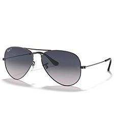 Ray-Ban Polarized Original Aviator Gradient Sunglasses, RB3025