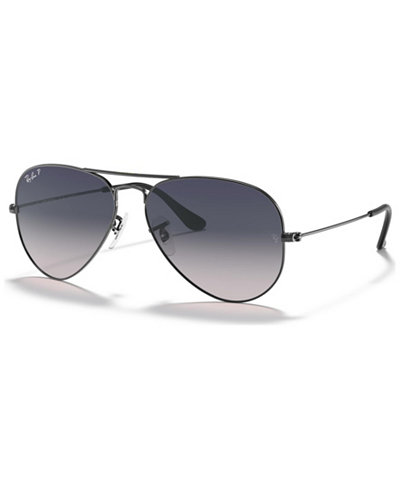 Ray-Ban Polarized Original Aviator Gradient Sunglasses, RB3025 58