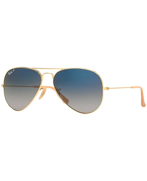 Polarized Sunglasses, RB3025 AVIATOR GRADIENT