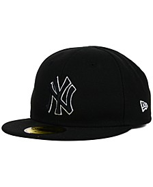 Kids' New York Yankees Black and White 59FIFTY Cap