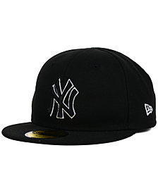 New Era Kids' New York Yankees Black and White 59FIFTY Cap