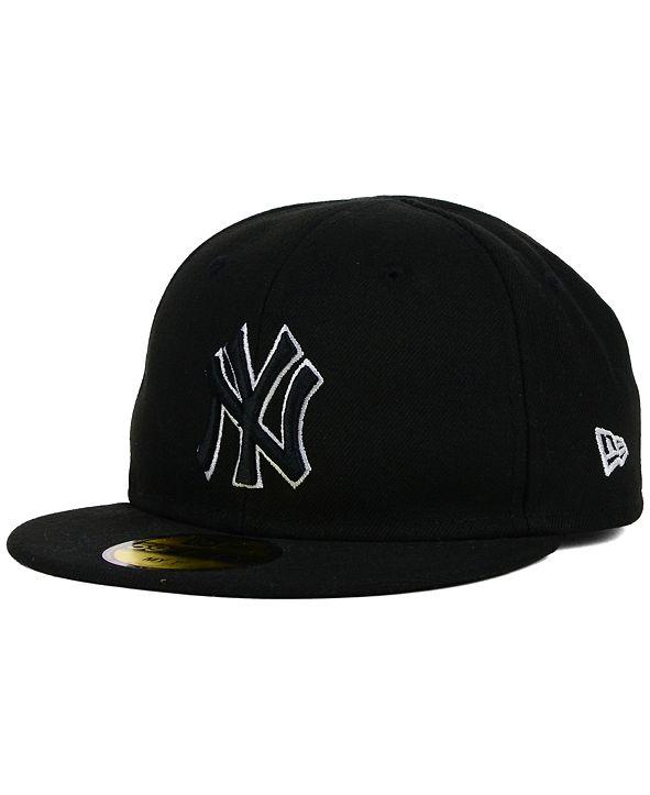 New Era Kids' New York Yankees Black and White 59FIFTY Cap