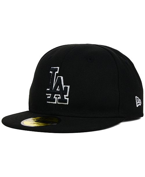 da29017b ... Fitted Cap; New Era Kids' Los Angeles Dodgers Black and White 59FIFTY  Fitted ...