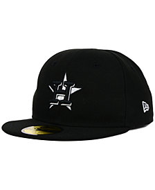 New Era Kids' Houston Astros Black and White 59FIFTY Cap