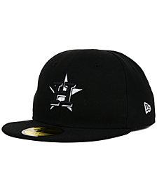 New Era Kids' Houston Astros Black and White 59FIFTY Cap