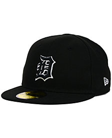 New Era Kids' Detroit Tigers Black and White 59FIFTY Cap