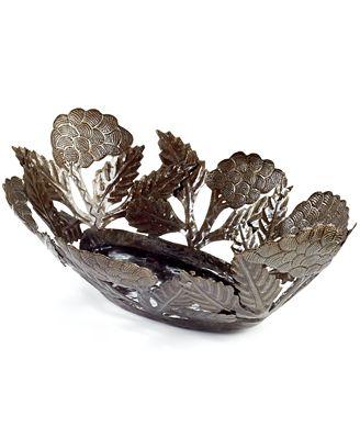 Heart of Haiti Metal Grapes Bowl