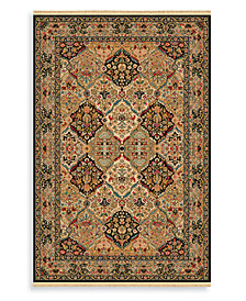 "Karastan Area Rug, Original Karastan 724 Empress Kirman Black 4'3""x6'"