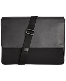 Calvin Klein Nylon and Saffiano Leather Messenger Bag