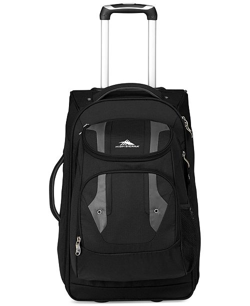 148f28c8d34 High Sierra CLOSEOUT! Adventure Access Carry On Rolling Backpack - Backpacks  - Luggage   Backpacks - Macy s