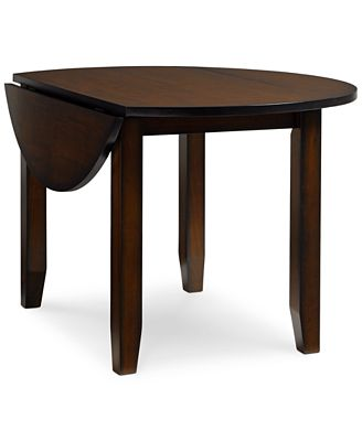 Branton Round Drop-Leaf Table - Furniture - Macy's
