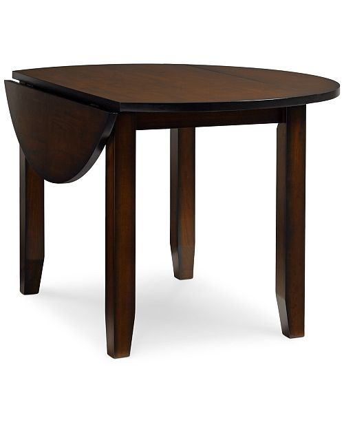 Furniture Branton Round Drop-Leaf Table