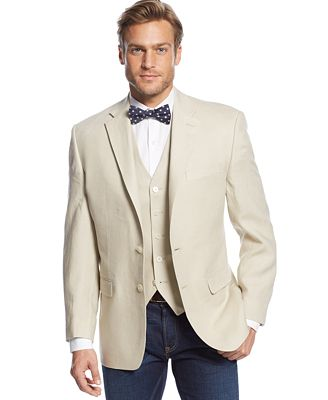 Lauren Ralph Lauren Tan Linen Sport Coat and Vest - Suits & Suit ...