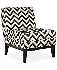 Peekskill Chevron Fabric Accent Chair