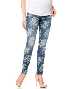 A Pea In The Pod Maternity Skinny Jeans  Floral-Print Wash