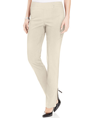 petite-studded-pull-on-pants,-created-for-macys by jm-collection