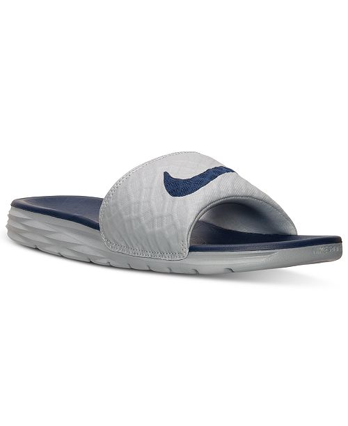 713586a0f432 ... Nike Men s Benassi Solarsoft Slide 2 Sandals from Finish Line ...