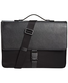 Calvin Klein Nylon & Saffiano Leather Briefcase